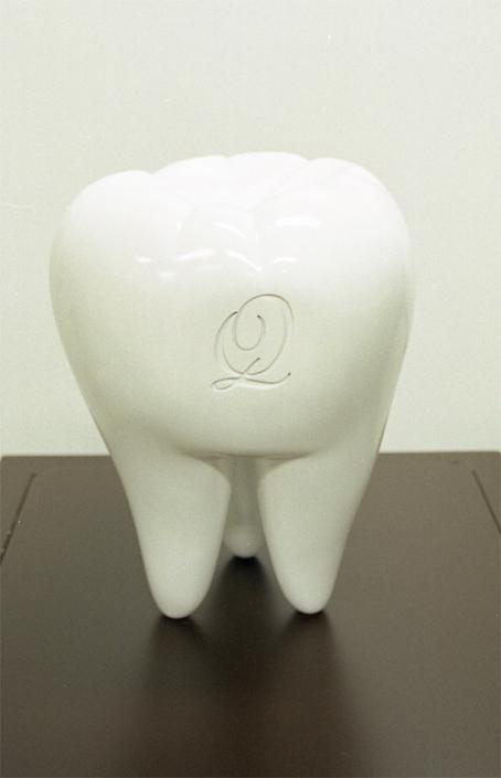 Qpotの歯のオブジェ制作
