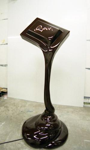Qpotとろけるチョコレートのオブジェ制作
