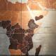 世界地図の壁画