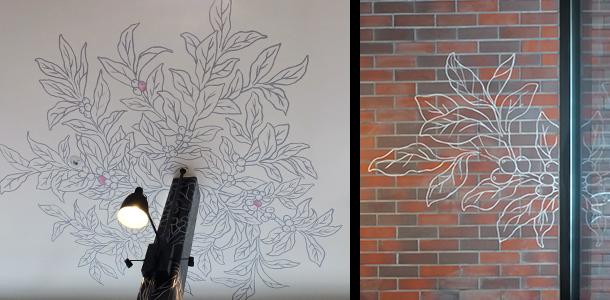 天井/壁面ラインアートstarbuksスターバックス