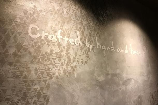 starbuksスターバックス店内壁面パターン、手描き文字