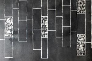 starbuksスターバックス床面手描きペイント、パターン